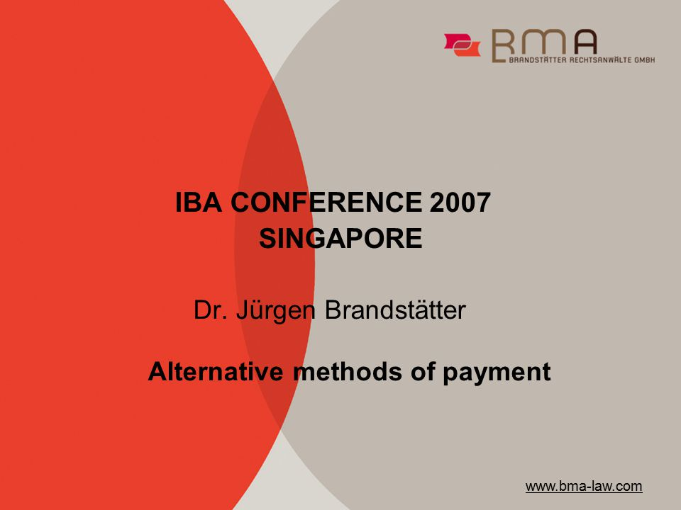 IBA CONFERENCE 2007 SINGAPORE Dr.