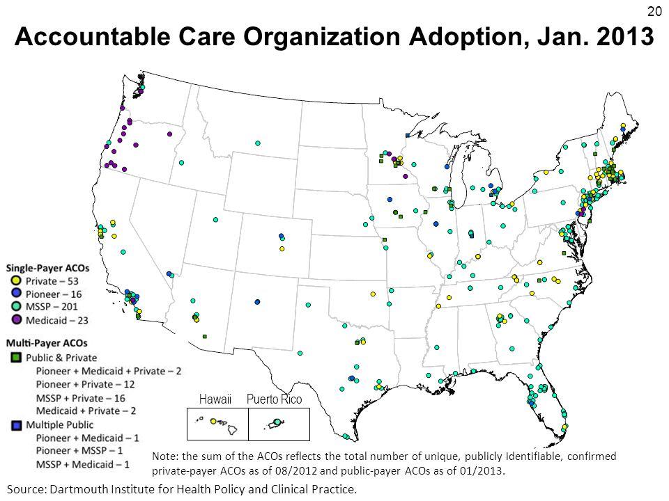 HawaiiPuerto Rico Accountable Care Organization Adoption, Jan.