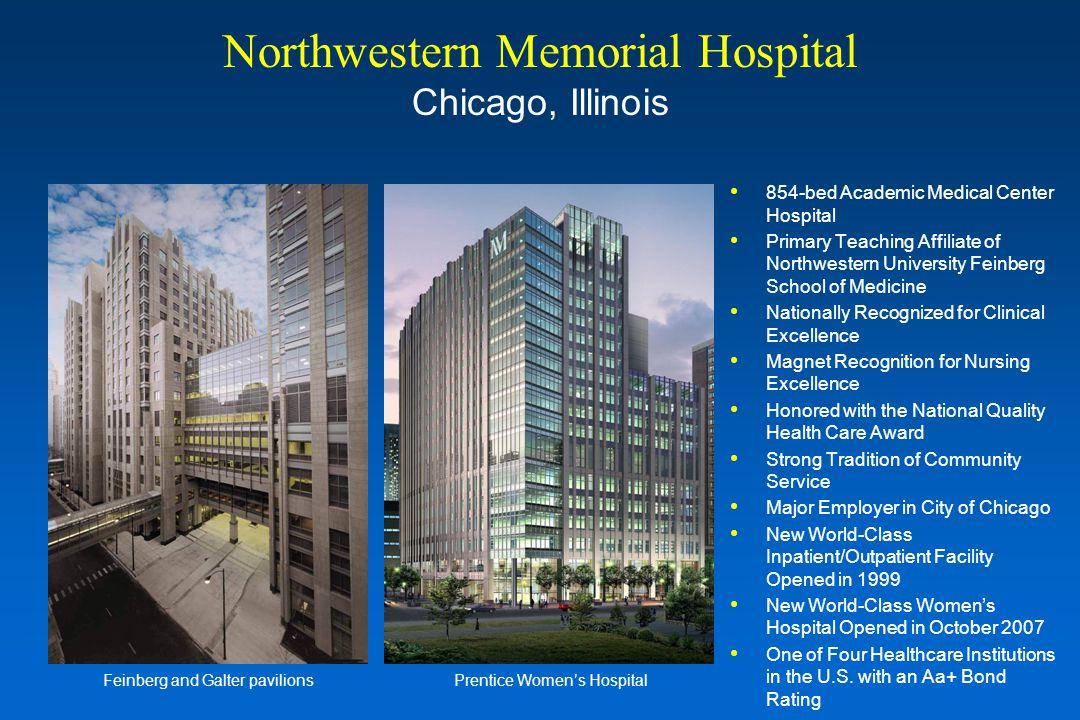 854-bed Academic Medical Center Hospital Primary Teaching Affiliate of Northwestern University Feinberg School of Medicine Nationally Recognized for C