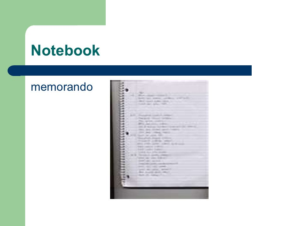 Notebook memorando