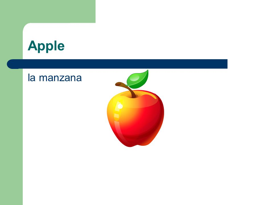Apple la manzana