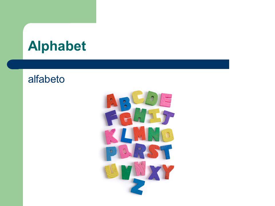 Alphabet alfabeto