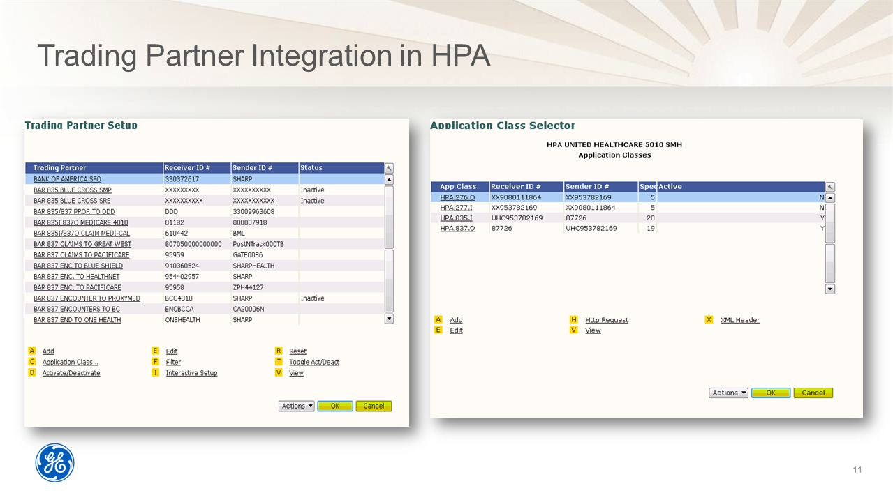 Trading Partner Integration in HPA 11
