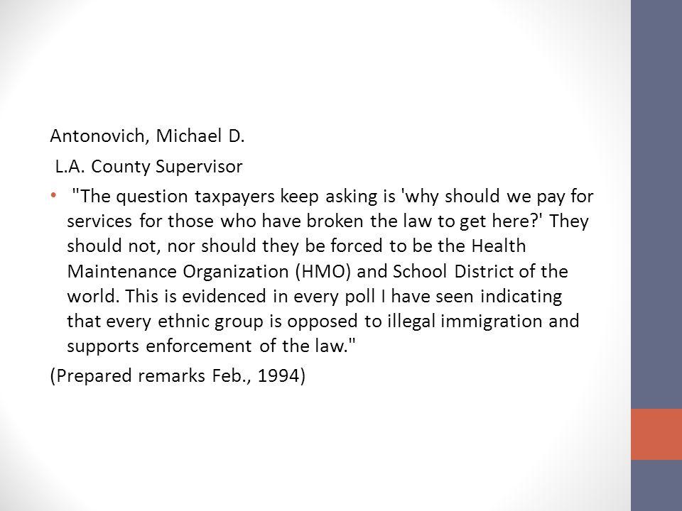 Antonovich, Michael D. L.A.
