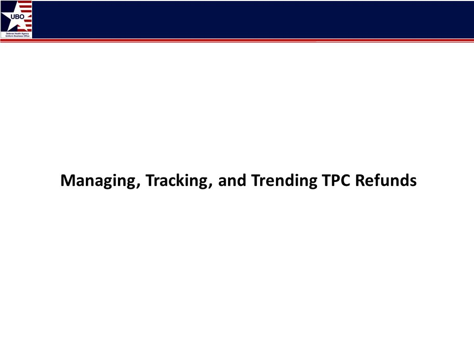 Managing, Tracking, and Trending TPC Refunds