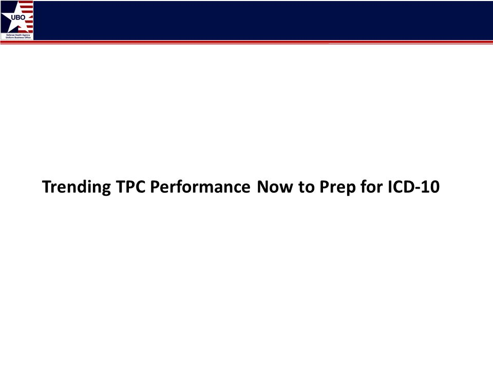 Trending TPC Performance Now to Prep for ICD-10