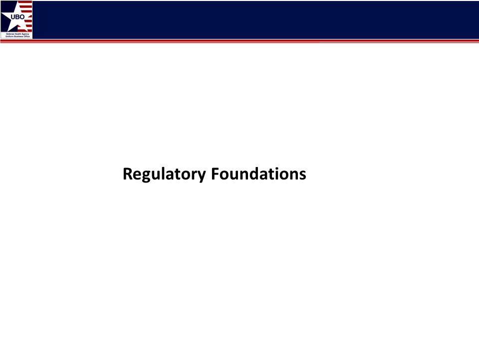 Regulatory Foundations