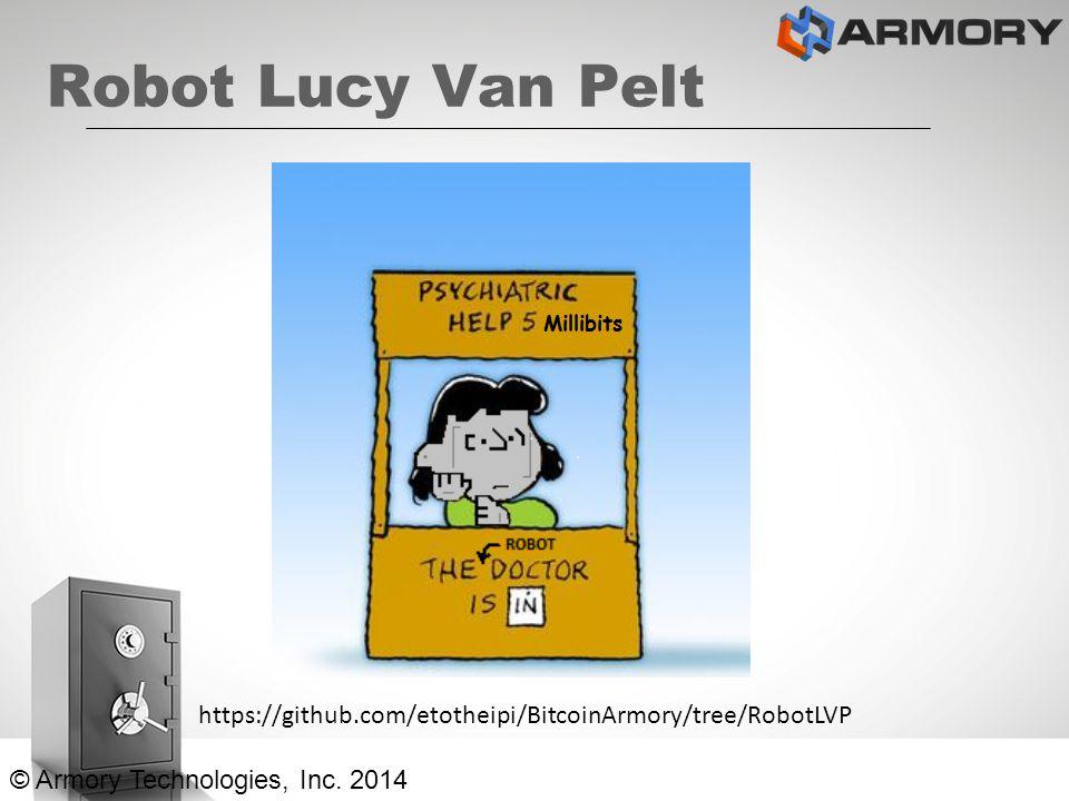 Robot Lucy Van Pelt © Armory Technologies, Inc. 2014 https://github.com/etotheipi/BitcoinArmory/tree/RobotLVP