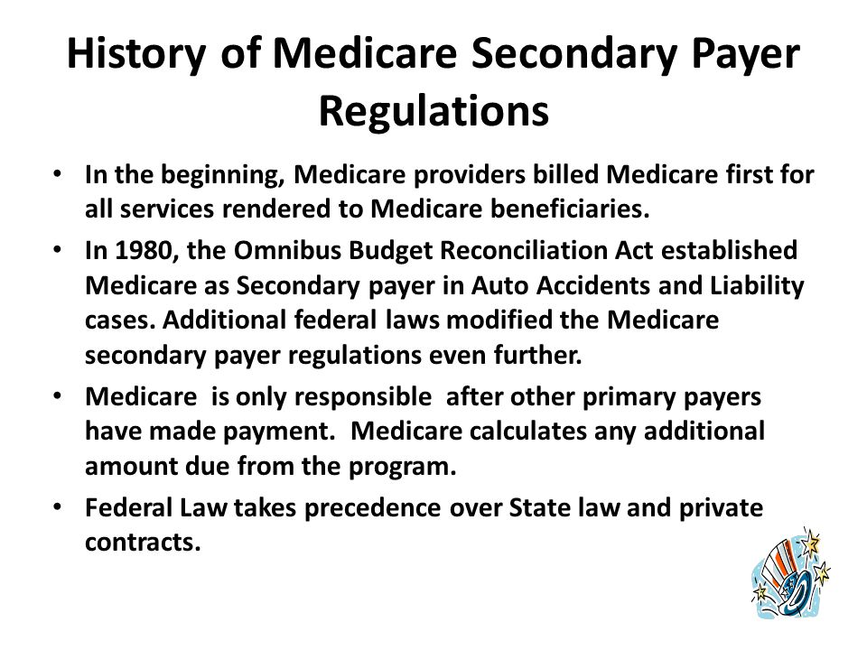 Medicare-Provider Relationship Every health-care facility that receives reimbursement from Medicare adheres to the Center for Medicare/Medicaid Services (CMS) regulations.