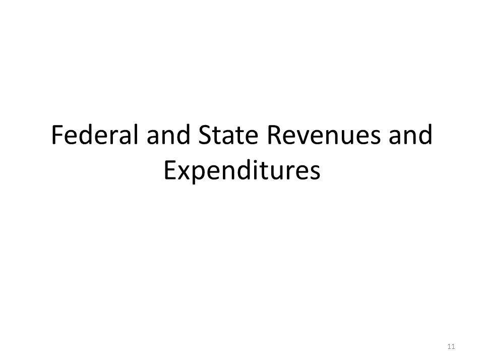 Federal and State Revenues and Expenditures 11