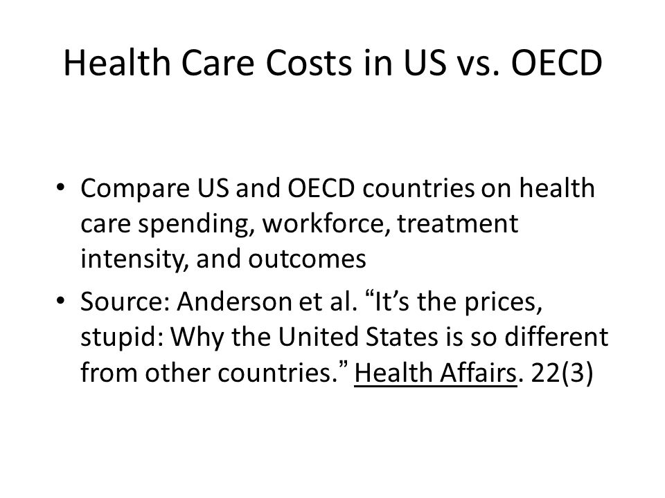 Health Care Costs in US vs.