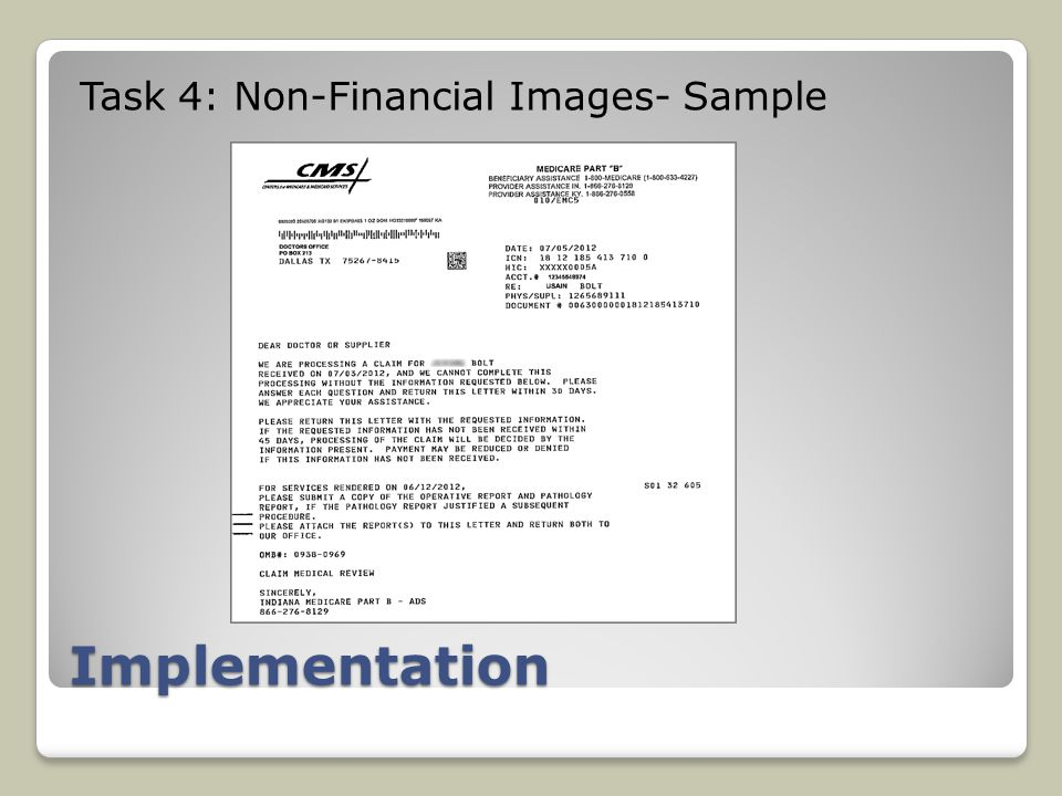 Implementation Task 4: Non-Financial Images- Sample
