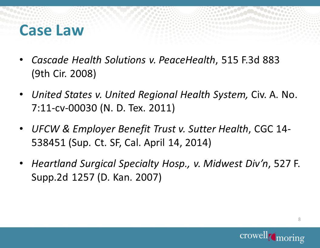 Case Law Cascade Health Solutions v. PeaceHealth, 515 F.3d 883 (9th Cir.