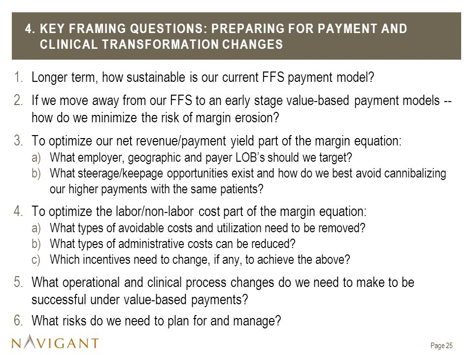 1.Longer term, how sustainable is our current FFS payment model.