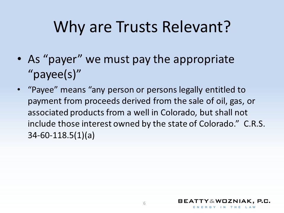 Why are Trusts Relevant.