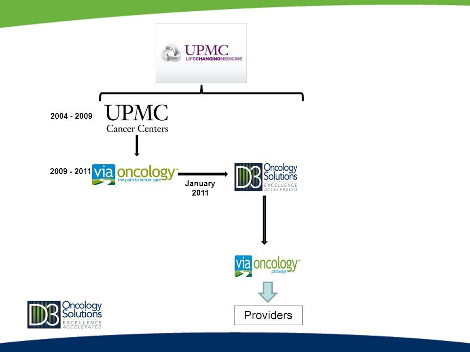 2004 - 2009 2009 - 2011 January 2011 Providers