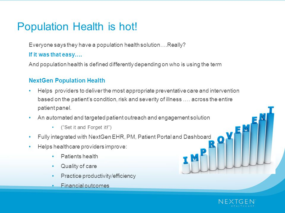 Population Health is hot.Everyone says they have a population health solution….Really.