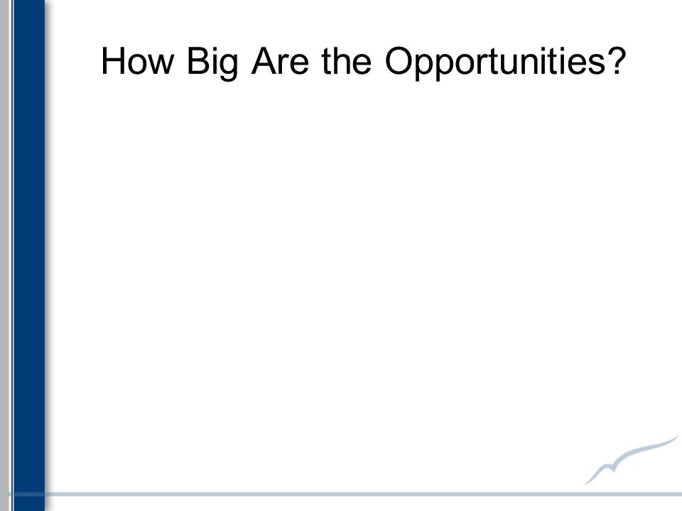 How Big Are the Opportunities?