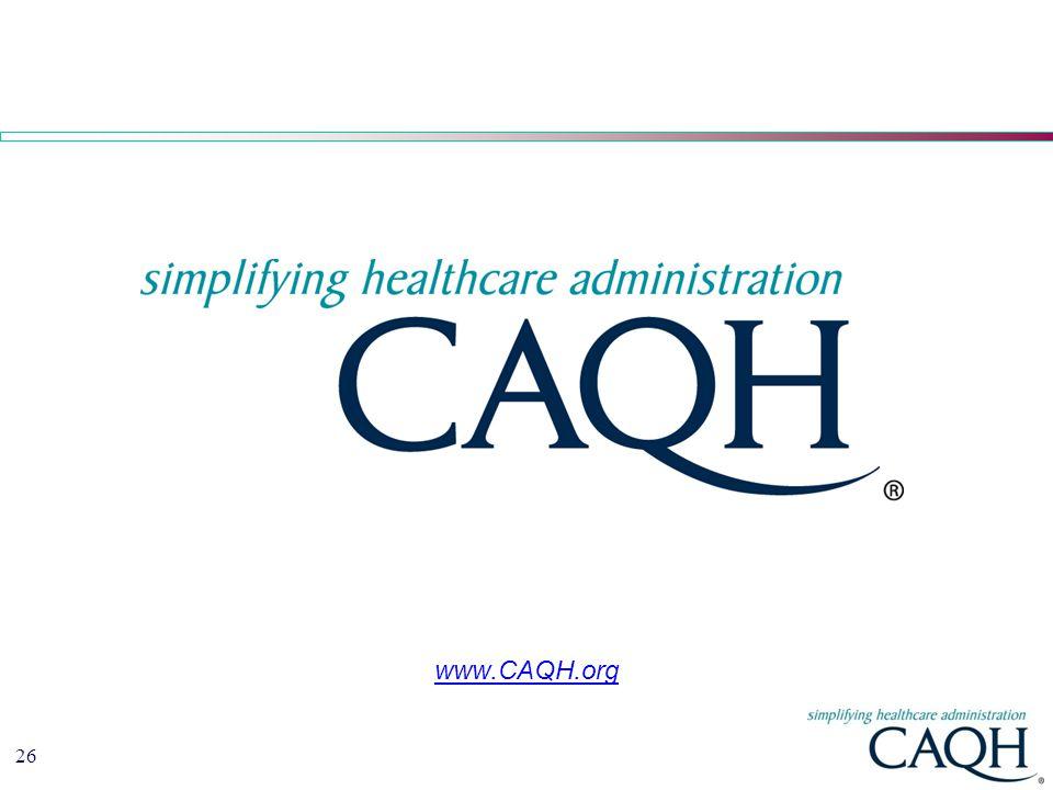 26 www.CAQH.org