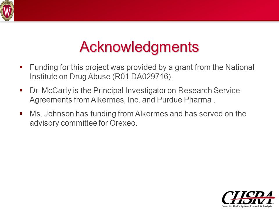 Acknowledgments  Funding for this project was provided by a grant from the National Institute on Drug Abuse (R01 DA029716).