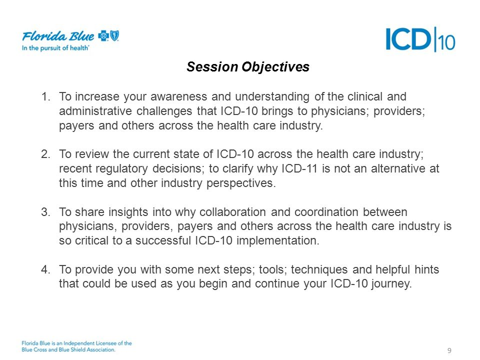Next Steps 20 Florida Blue Fundamentals How is Florida Blue Addressing the ICD-10 Challenge.