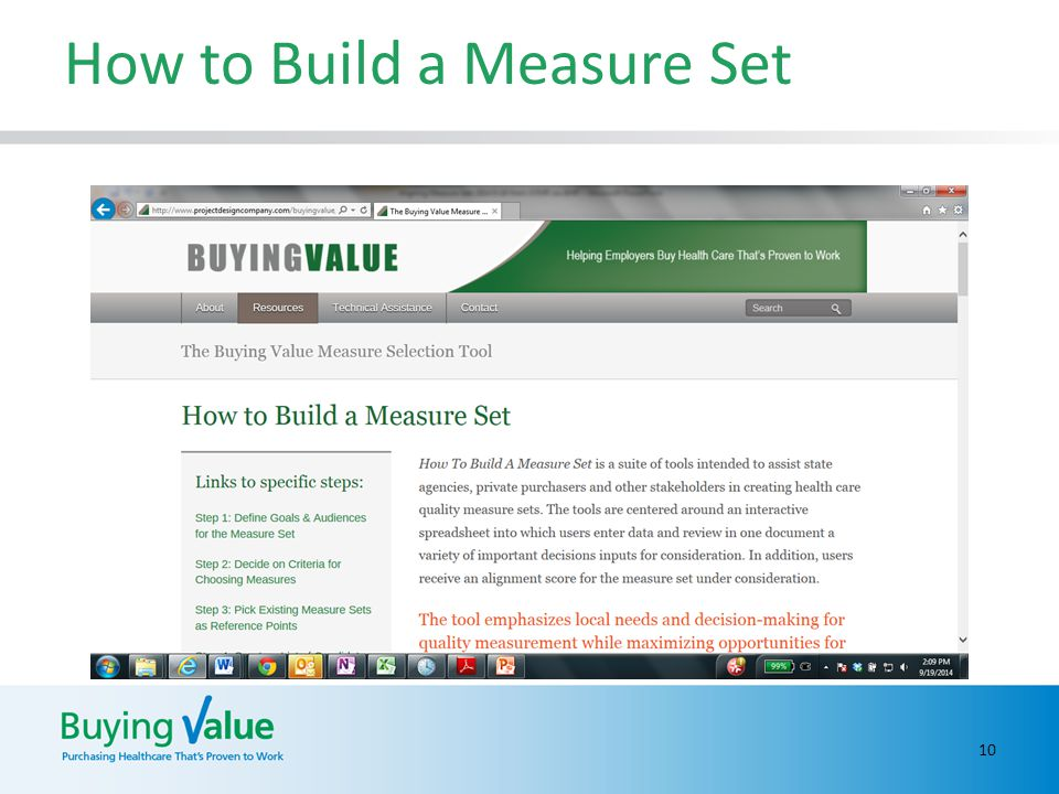 How to Build a Measure Set 10