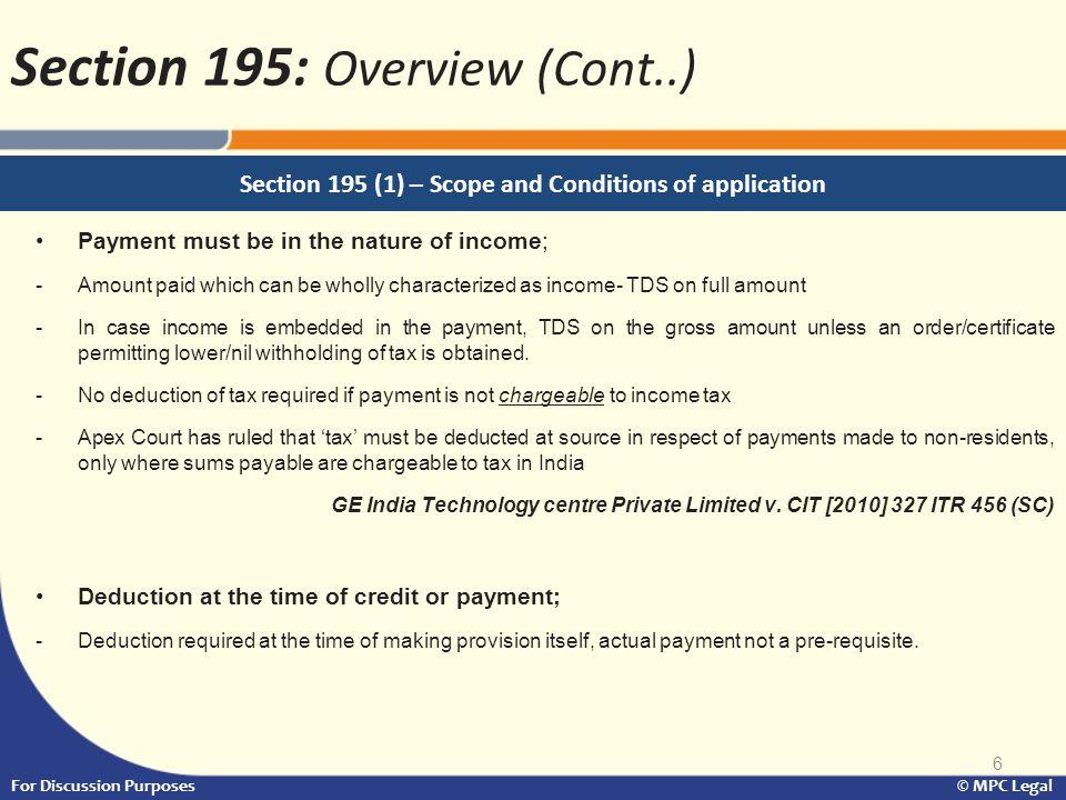 17 For Discussion Purposes © MPC Legal Form 15 CA & 15CB: A comparison (Cont..)