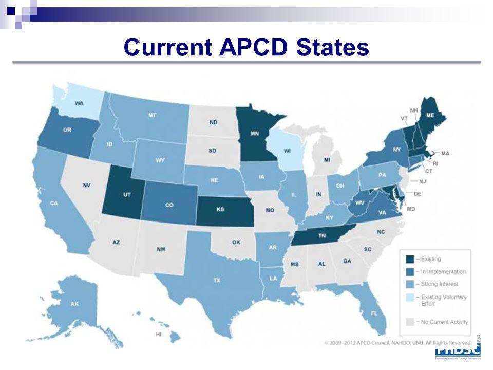 Current APCD States