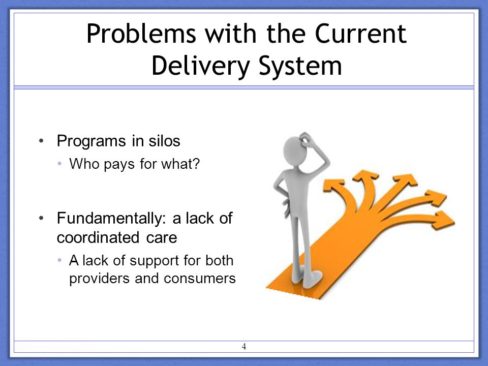 4 Programs in silos Who pays for what.