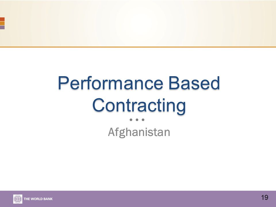 Performance Based Contracting Afghanistan 19