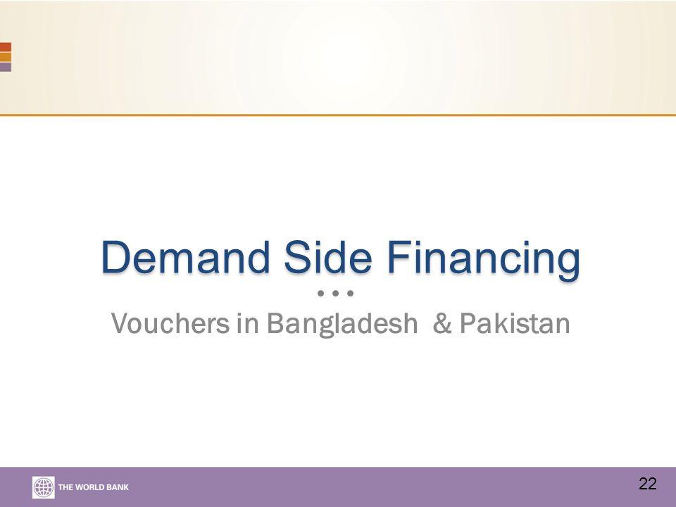 Demand Side Financing Vouchers in Bangladesh & Pakistan 22