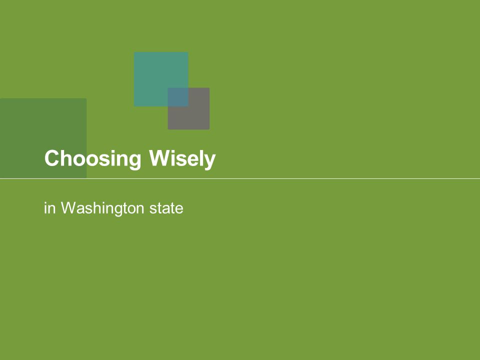 Choosing Wisely in Washington state