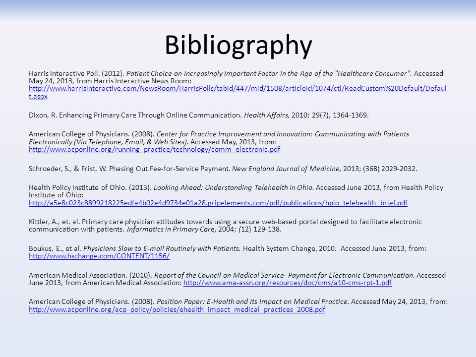 Bibliography Harris Interactive Poll. (2012).