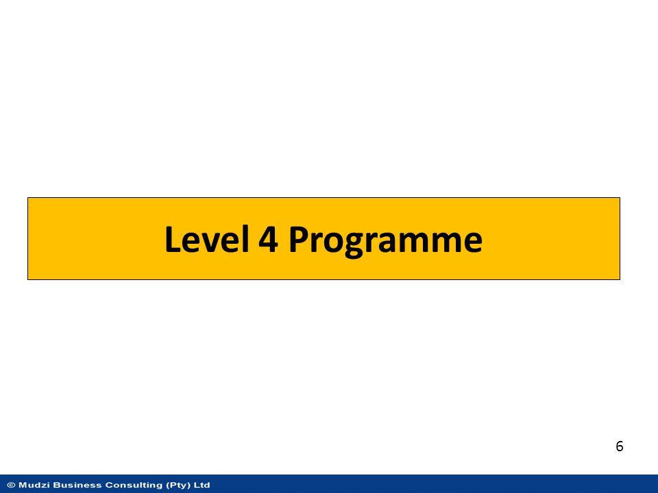 Level 4 Programme 6