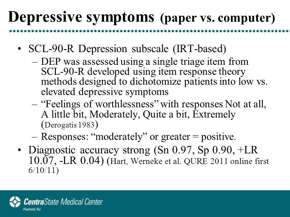 Depressive symptoms (paper vs.
