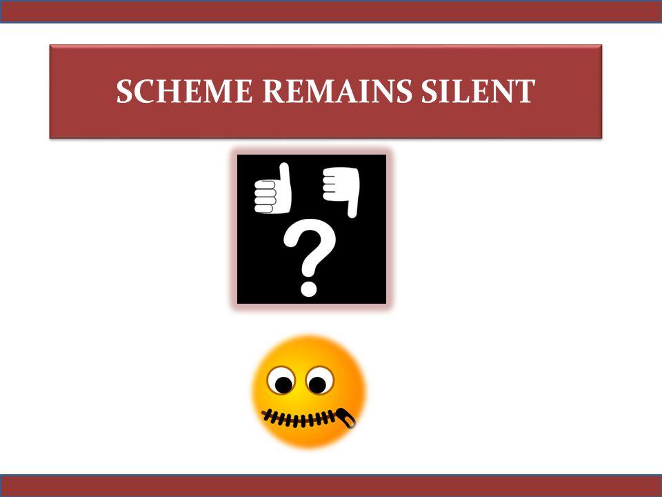 SCHEME REMAINS SILENT