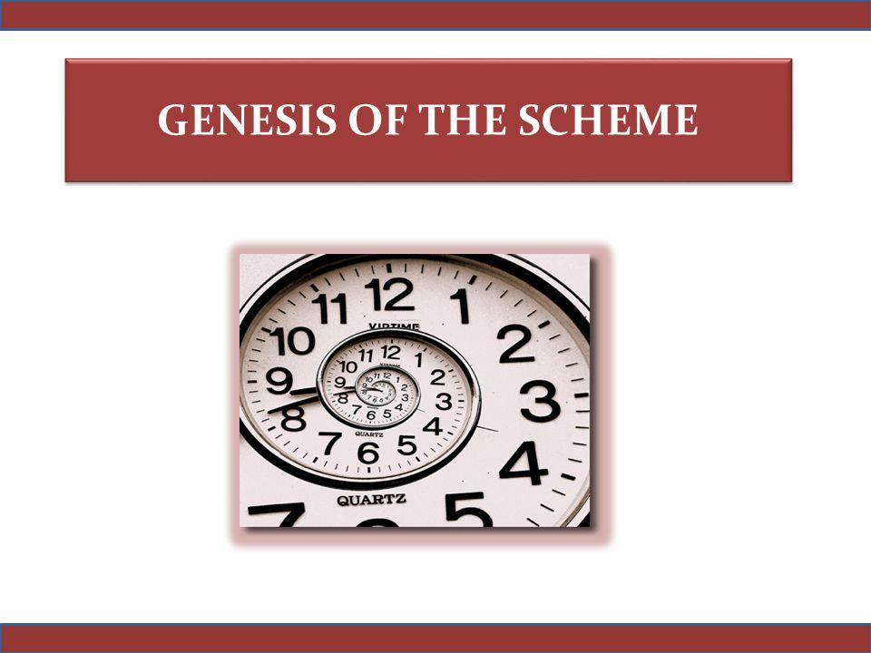 GENESIS OF THE SCHEME