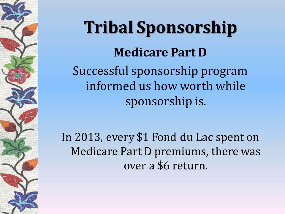 Tribal Sponsorship Medicare Part D Successful sponsorship program informed us how worth while sponsorship is.