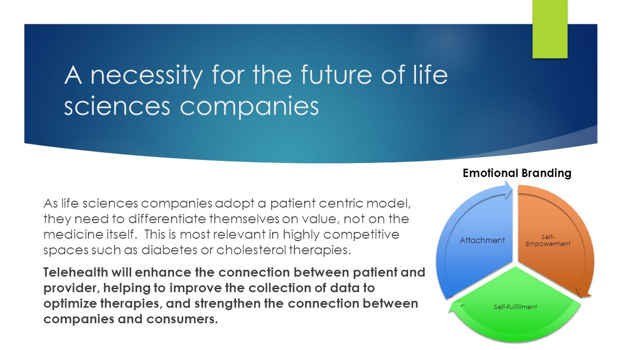 A necessity for the future of life sciences companies As life sciences companies adopt a patient centric model, they need to differentiate themselves