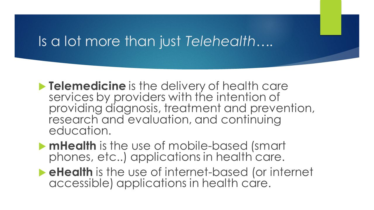 Is a lot more than just Telehealth….