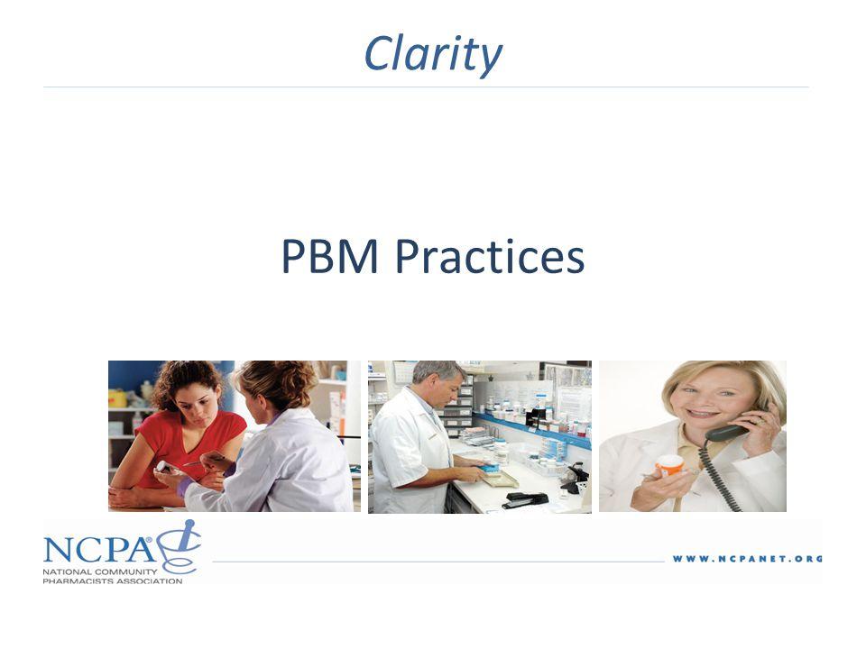 PBM Practices Clarity