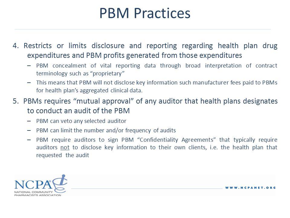 PBM Practices 4.