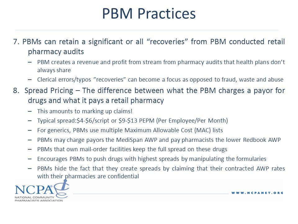 PBM Practices 7.
