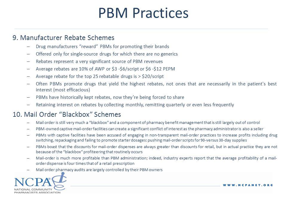 PBM Practices 9.
