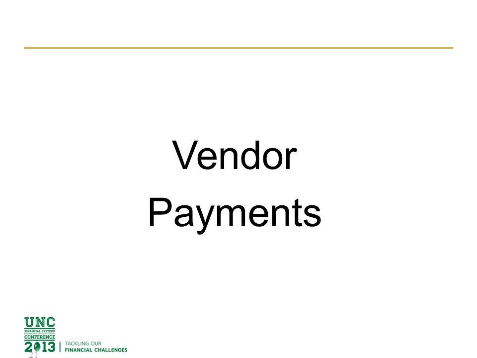 Vendor Payments 21