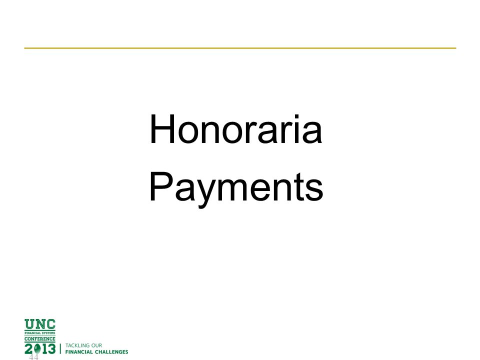 Honoraria Payments 44