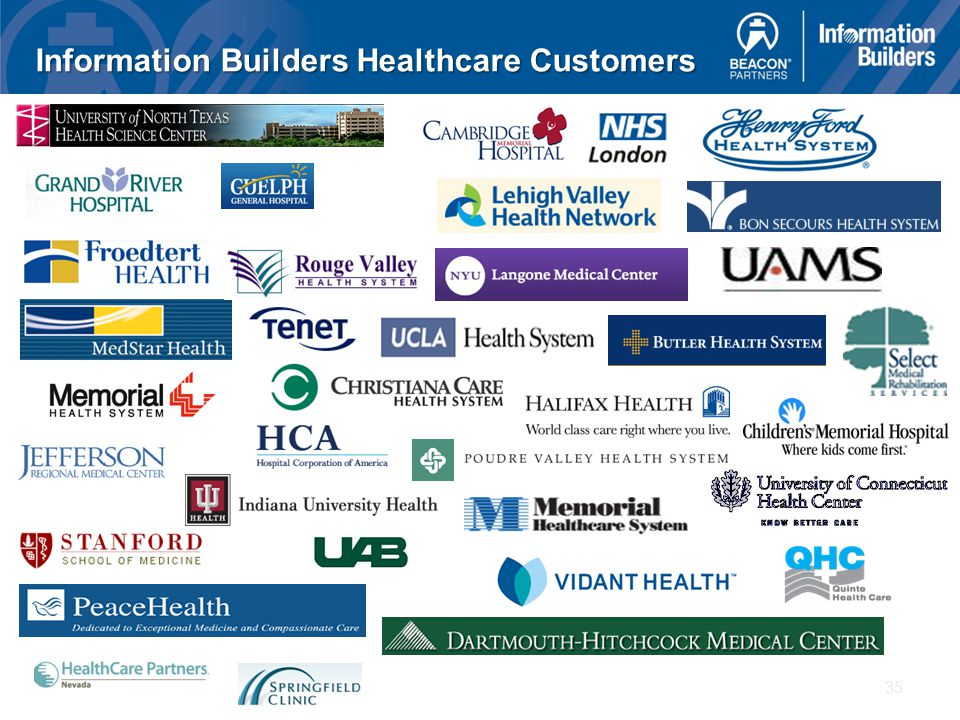 35 Information Builders Healthcare Customers