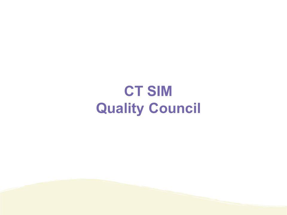 CT SIM Quality Council