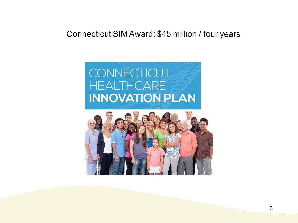 6 Connecticut SIM Award: $45 million / four years