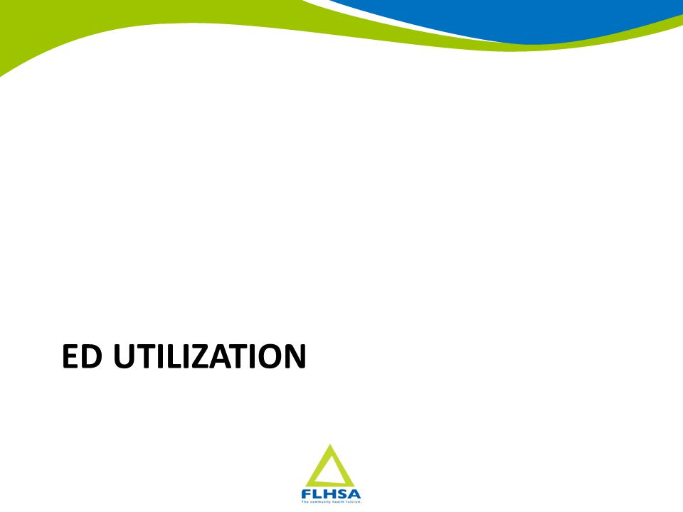 ED Utilization, 6 County Region Residents Source: NYS DOH SPARCS File Counties: Monroe, Livingston, Ontario, Yates, Seneca and Wayne 2020 Commission Program Implementation
